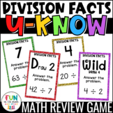 Division Facts Practice Game for Math Centers or Stations: U-Know