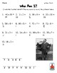 Division Facts Who Am I? Inventor Worksheets Freebie