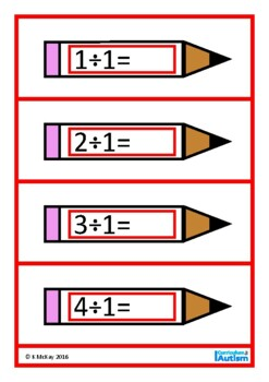 Division Facts Times Tables, Autism, Special Education, Math Center