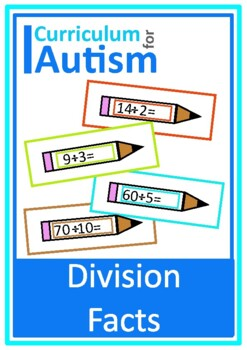 Division Facts Times Tables Math Task Cards, Autism, Speci