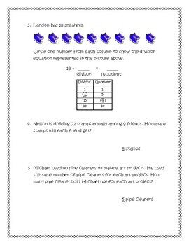 Division Facts and Strategies (3rd Grade Go Math Chapter 7 ...