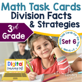 Division Facts and Strategies Task Cards (3rd Grade) Google Slides and Forms
