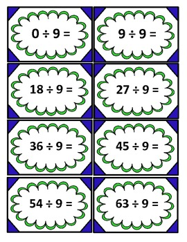 Division Facts with Sorting Mats