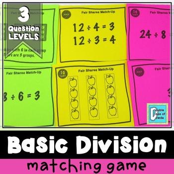 Division Matching Game