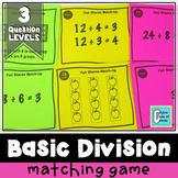 Basic Division Matching Activity Game