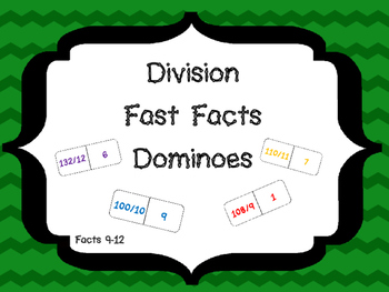 Division Fast Facts Dominoes Facts 9-12