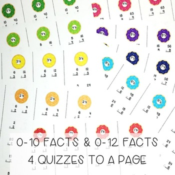 Division Facts - Timed Fluency Quizzes