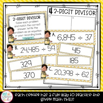 Division Fifth Grade Math Centers