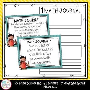 Decimals Fifth Grade Math Centers