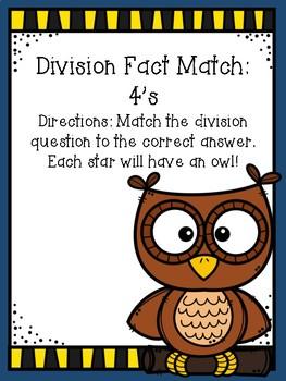 Division File Folder Game- 4's