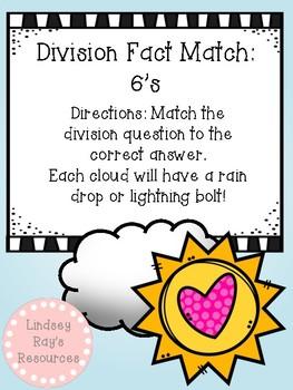Division File Folder Game- 6's