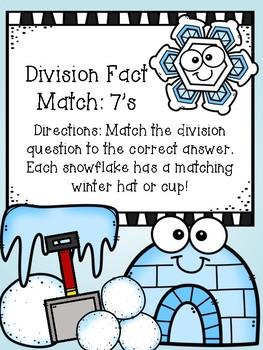 Division File Folder Game- 7's