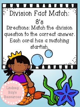 Division File Folder Game- 8's