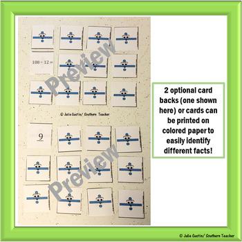 Division Flash Card Memory Game