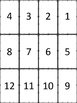 Division Flash Card Set with Answers Border 1