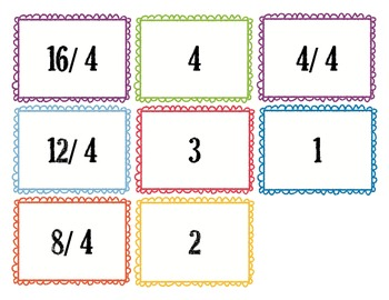 Division Flash Cards 0 - 10 with answers on back