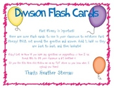 Division Flash Cards 0 - 11 With Answers