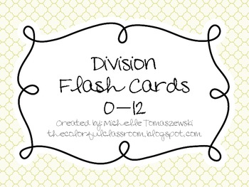 photo relating to Division Flash Cards Printable titled Department Flash Playing cards 0-12 Worksheets Instructors Pay out Lecturers