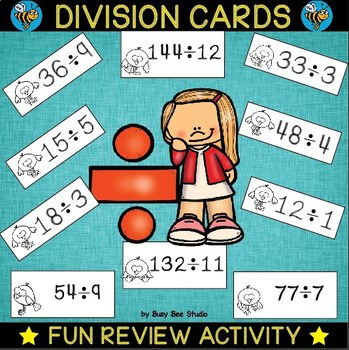 Division Flash Cards (1-12)