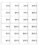Division Flash Cards (Full Set) for binder rings