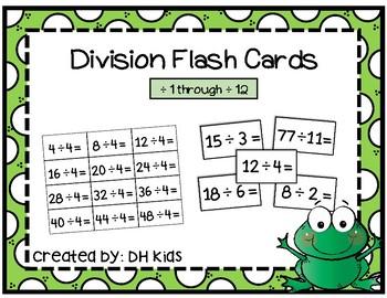Division Flash Cards - Math Flash Cards