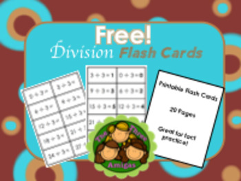 Division Flash Cards Printable