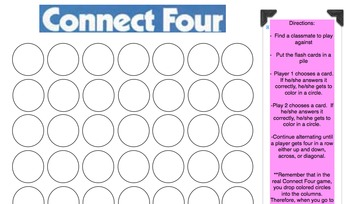 Division Flash Cards and Connect Four Game