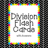 Division Flash Cards with Answers