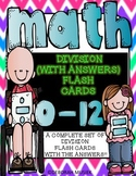 Division Flash Cards with the Answers