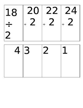 Division Flashcard sets- master one divisor at a time! up to 144/12