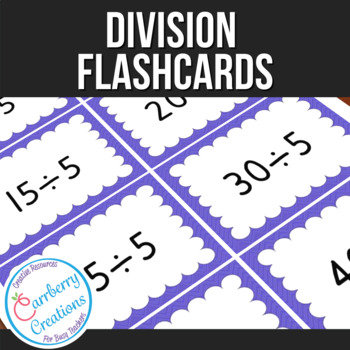 Division Flashcards 1-12 tables (8 per page)