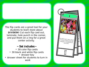 Division Flip Cards