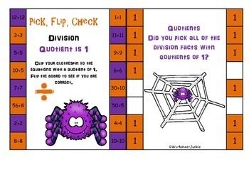 Division Flip, Clip, Check Cards