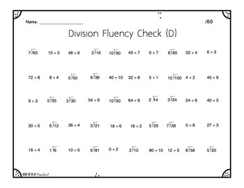 Division Fluency Checks