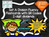 Division Fluency Flashcards with QR Codes-Set A