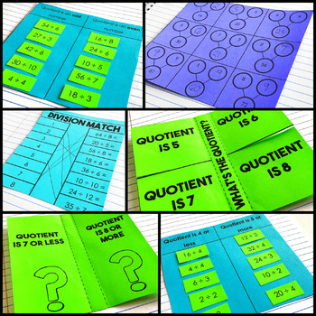 Division Fluency Interactive Notebook