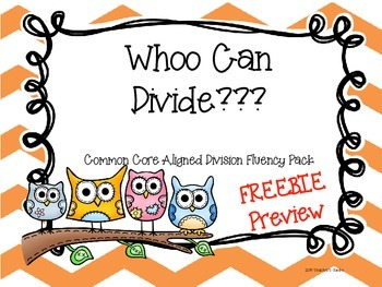 Free Division Fluency Pack Preview