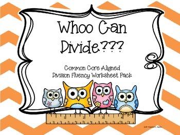 Division Fluency Worksheet Bundle