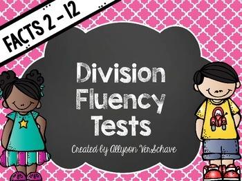 Division Fluency Tests