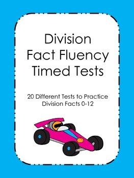 Division Fluency Timed Tests