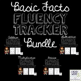 Basic Facts Fluency Tracker Craftivity Bundle