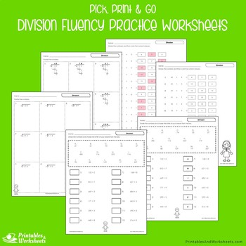 Division Fluency Worksheets