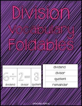 Division Vocabulary Foldables (4.NBT.6)