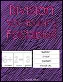 Division Vocabulary Foldables (4.NBT.6)
