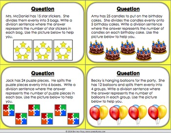 Division Activity: Division Game (Pictures, Arrays, and More!)