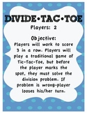 Division Game - Divide Tac Toe