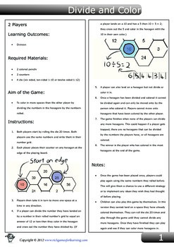 Division Game - Divide and Color