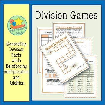 Division Games - Using Numbers 1 to 10