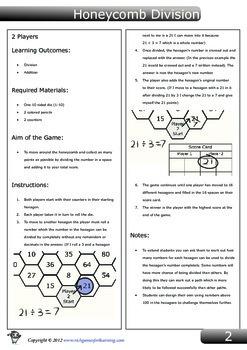 Division Game - Honeycomb Division