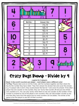 Division Bump Games: 33 Division Games for Division Facts Fluency
